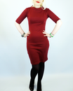 Super Spy HEARTBREAKER Retro Mod Wiggle Dress (Bu)