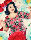 Darcy HELL BUNNY Retro 50s Vintage Roses Dress