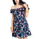 Florida HELL BUNNY Retro 60s Summer Mini Dress