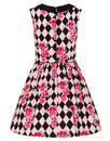 Harlequin HELL BUNNY Retro Diamond Mod Mini Dress