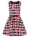 Hell Bunny Retro 60s Mod Harlequin Dress