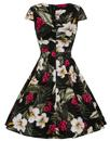 Kalei HELL BUNNY Vintage Floral Print 50s Dress