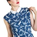 Lilou HELL BUNNY Retro 60s Swallows Mod Dress