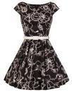 Hell Bunny Retro 60s Nautical Mini Mod Dress