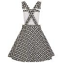 HELL BUNNY Pokerface Retro 60s Mod Pinafore Dress