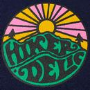 HIKERDELIC Men's Retro Original Logo Tee (Navy)