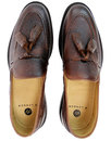 Benedict HUDSON Mod Grain Leather Tassel Loafers