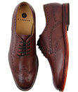 Talbot H by HUDSON 1960s Mod Derby Brogue Shoes