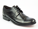 IKON ORIGINAL YORKE BROGUES RETRO MOD SHOES BLACK