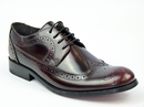 IKON ORIGINAL YORKE BROGUES RETRO MOD SHOES BORDO