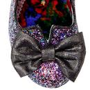 Nick Of Time IRREGULAR CHOICE Black Glitter Heels