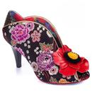 irregular choice womens rita primrose floral heels black