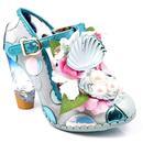irregular choice seafoam queen seashell heels blue