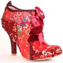 Irregular Choice Abigails Third Party Heels in Red Floral