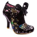 Irregular Choice Abigails 3rd Party Boots Black Floral