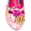 Amare IRREGULAR CHOICE Glitter Heart Heels Pink