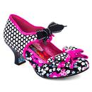 Irregular Choice Apple Spice Retro 50s Floral Polka Dot Heels in Black