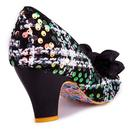 Ban Joe IRREGULAR CHOICE Retro Tweed Shoes - Black