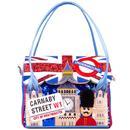 Irregular Choice Big Ben Chimes retro Swinging London Shoulder Bag in Blue