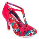 Irregular Choice Bloxy Red Floral Heels
