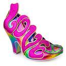 Choose Love IRREGULAR CHOICE Retro Rainbow Heels