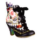 Irregular Choice Full House Limited Edition Playing Card Boots in Black