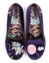 Fuzzy Peg IRREGULAR CHOICE Kitty Shoes in Purple