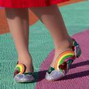 Holiday Romance IRREGULAR CHOICE Rainbow Flats G