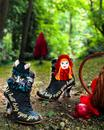 IRREGULAR CHOICE Little Red Riding Boots (Black)