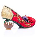 Love Pudding IRREGULAR CHOICE Xmas Pudding Heels