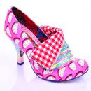 Irregular Choice Melon Flick Flack Heels in Purple