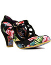 irregular choice nicely done floral heels black