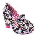 Irregular Choice Oz Cat Print Shoes in Black