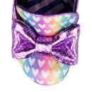 Ozzo IRREGULAR CHOICE Rainbow Love Heart Heels (P)