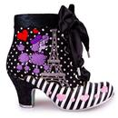 Paris For Two IRREGULAR CHOICE Poodle Heel Boots B
