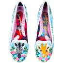Savannah IRREGULAR CHOICE Animal Floral Flats BLUE