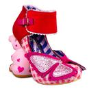 Irregular Choice So Hippo Character Heels in Red/Pink