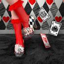 Winning Hand IRREGULAR CHOICE Playing Card Heels