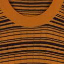 Rural JOHN SMEDLEY Mod Knitted Rib Stripe Pullover