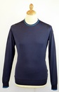 Ulric JOHN SMEDLEY Retro 60s Tipped Mod Jumper