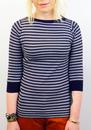Sher JOHN SMEDLEY Retro 60s Slash Neck Mod Sweater
