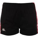 kappa womens lady threat banda shorts black