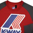 Le Vrai Floyd K-WAY Retro 80s Logo Sweatshirt RED
