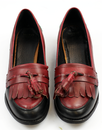 Devlish LACEYS Womens Retro 60s Tassel Loafers B/R