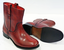 Tame LACEYS Retro 60s Mod Burgundy Chelsea Boots