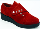 LACEYS WOMENS CREEPERS RETRO MOD 50s SHOES RED