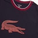 LACOSTE Retro Tipped Crew Neck Loungewear Tee NB