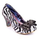 Lady Ban Joe IRREGULAR CHOICE Zebra Heels W/P