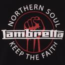LAMBRETTA Keep The Faith Northern Soul Fist Tee B