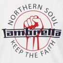 LAMBRETTA Keep The Faith Northern Soul Fist Tee W